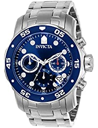 Invicta Pro Diver Men's Chronograph Quartz Watch with Stainless Steel Bracelet – 0070
