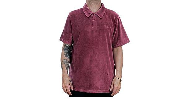 767aaef14e Stussy Victor Polo Shirt Maroon Medium: Amazon.co.uk: Clothing