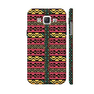 Colorpur Multicolor African Pattern With Geometric Shapes Designer Mobile Phone Case Back Cover For Samsung Galaxy E5   Artist: Designer Chennai