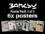 poster Banksy Lot de 1 2-6 de Banksy's Plus Motif images de chaque affiche: A3 (420 x 297 mm)