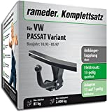 Rameder Komplettsatz, Anhängerkupplung Starr + 13pol Elektrik für VW Passat Variant (113046-00423-1)