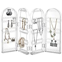 Beautify Jewellery Oragniser - Foldable Necklace Hanger - Jewellery Display Stand - Ring Holder - Stores 260 Earrings