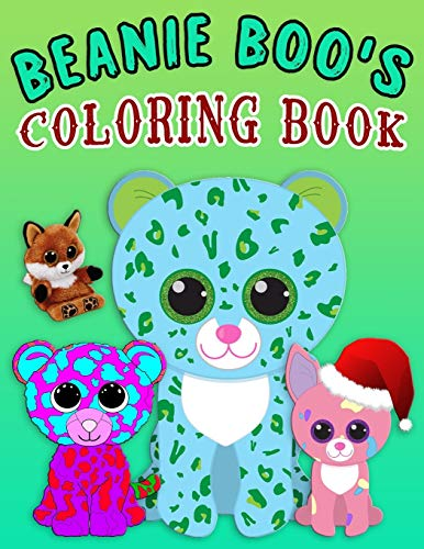 BEANIE BOO'S COLORING BOOK: Super Fun Beanie Boo Coloring Book for Kids, young girls and boys | beanie boo coloring book New