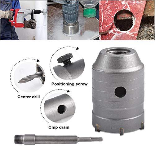 HOHXEN 65mm SDS Plus Lochsäge Betonbohrer Betonschneider für Betonzementstein + Schraubenschlüssel + Verbindungsstange + Bohrer