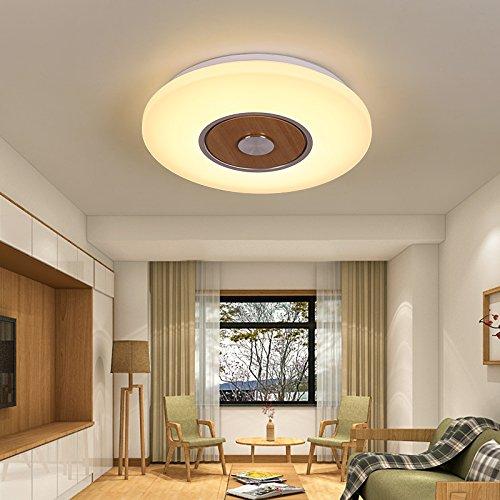 XMINL Hängen Kai runde Wohnzimmer aus hellem Holz Kunst Schlafzimmer LED Deckenleuchte Warm Balkon Gang kreative Kinderzimmer Lampen, Klein 40 Cm warmes LED-Licht -