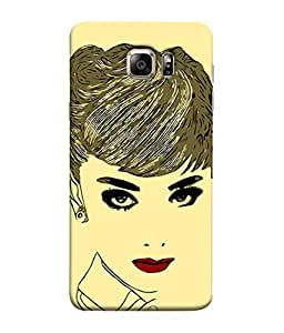 FUSON Designer Back Case Cover for Samsung Galaxy S6 Edge+ :: Samsung Galaxy S6 Edge Plus :: Samsung Galaxy S6 Edge+ G928G :: Samsung Galaxy S6 Edge+ G928F G928T G928A G928I (Black Background Girl Heroin Female Modern Young)