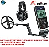 XP Xplorer Deus 11 Full Metal Detector + WS5 Wireless Headset + Radio Control RC