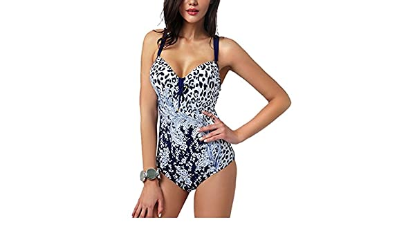 Zelura sexy-temptation womens resort halter one-piece bikini