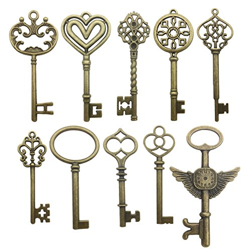 k Schlüsselanhänger Charms Schmuckherstellung DIY gemischte Schlüssel Anhänger Charms Großhandel Bronze Keys 2 ()