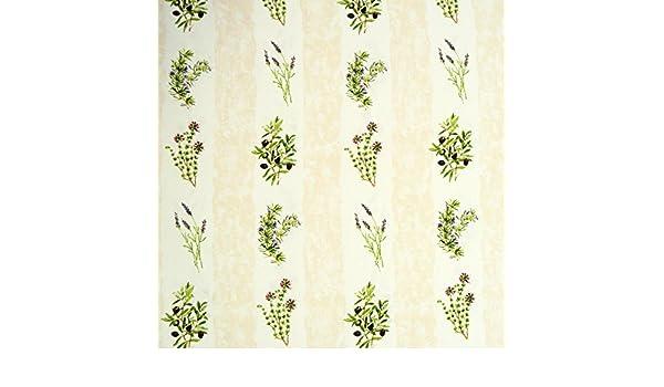 Gardinenstoff Stoff Dekostoff TOSCANA Oliven Lavendel Kräuterzweige creme natur