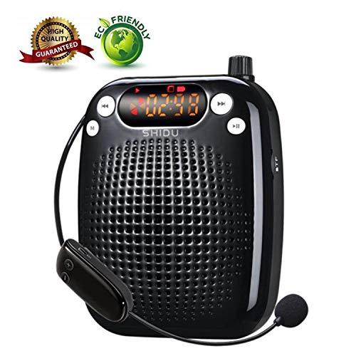 SHIDU Amplificador voz 10W Sistema PA portátil recargable