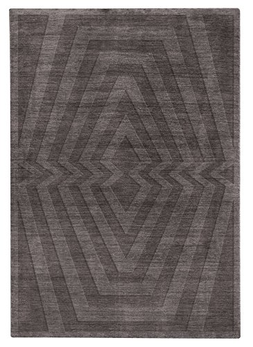 Platinum Collection - Design Carpet Mod.Forever 140X200 Dark Grey- Hand Made With Scissor-Cut Embossed Design