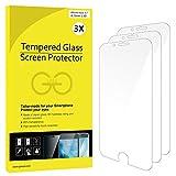 iPhone 6s Protector de Pantalla, JETech® 3-Pack [3D Touch Compatibles] iPhone 6s Vidrio Templado Protector de Pantalla Empaquetado al por Menor para iPhone 6s y iPhone 6 4.7