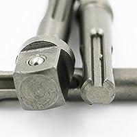 Impact SDS Power Tools - Juego de adaptadores para taladro y portabrocas (3 piezas, 1/4, 3/8, 1/2, 1/2)