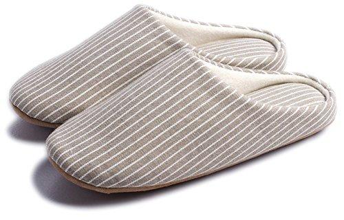 Ciabatte donna uomo eleganti pantofole interne casa feltro scarpe slippers pelose suola morbida inverno cotone (39.5/42 eu, bianca)