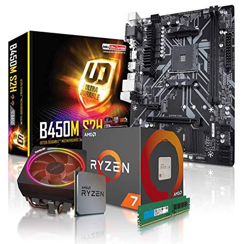 dercomputerladen PC Aufrüstkit AMD 7-3700X 8x3.6 GHz - 16GB DDR4, ohne onBoard Grafik, eigenständige Grafikkarte notwendig, Mainboard Bundle, Tuning Kit, für Spiele und Office geeignet