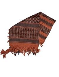 Kult Schal ! Palästinenser- / Pali-Baumwoll Tuch, 100x100cm, Farbe: schoko/schwarz
