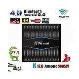 Drizzle Android 7.1 Original TV-Box H96 Mini-Smart-TV-Box Quad-Core Amlogic S905W 2 GB + 16 GB Bluetooth4.0 Unterstützung 2,4 G / 5 G Dual Wifi IP für HD TV und alten TV