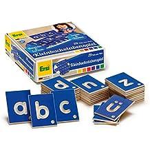 Erzi Educativos Juego letras minúsculas de juguetes de madera alemán