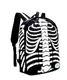 Demarkt Prohibido Esqueleto Calavera impresa Mochila Con Capucha Bolso Mochila horror gótico negro