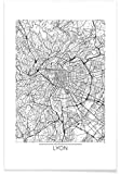 JUNIQE® Poster 30x45cm Stadtpläne Lyon - Design
