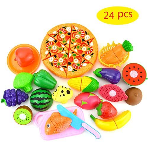 24pcs Cibo Tagliare Bambini Frutta e Verdura Giocattolo da ...