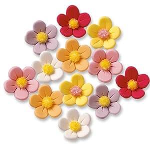 24 Fiorellini di zucchero, colorati
