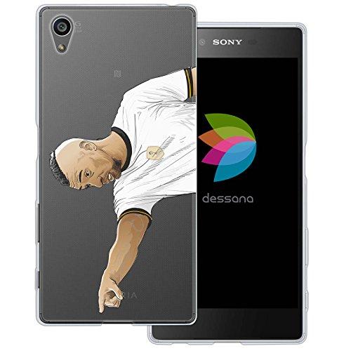 dessana Fußballer Transparente Silikon TPU Schutzhülle 0,7mm Dünne Handy Tasche Soft Case für Sony Xperia Z5 Mittelfeld Spieler