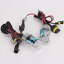 Takestop® Par lámpara HB3(9005) 6000K para kit xenon xenón con cables Cable Cableado Bulbos Repuesto Luz HID bombilla para coche furgoneta
