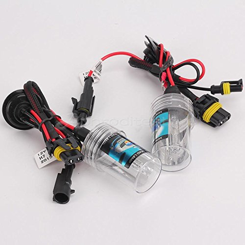 takestop® COPPIA LAMPADA H11 6000K PER KIT XENON XENO con cavi cavo cablaggio BULBI RICAMBIO LUCE HID LAMPADINA PER AUTO CAMPER