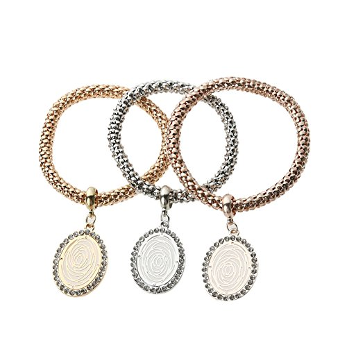 domybest Fashion 3Gold Silber Rose Gold Armbänder Strass Set Legierung Schmuck