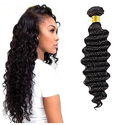 Ugeat Tief Wellig Weaving Echthaar Extensions 28 Zoll Real Human Haare Tressen 1 Bundle 100gramm 1b# Naturliche Schwarz