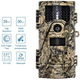 MCJL Wildlife Trail Camera, Hunting Video Camera 20MP 1080p 30fps Trail Kamera Farm Home Security 0.4s Trigger Time Wildlife Hidden Photo Trap