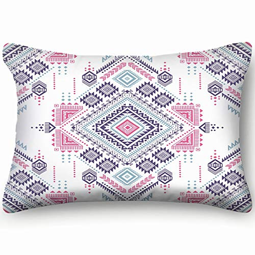 dfgi Pastel Color tribal Abstract Boho Abstract Boho Skin Cool Super Soft and Luxury Pillow Cases Covers Sofa Bed Throw Pillow Cover with Envelope Closure 20 * 30 inch -