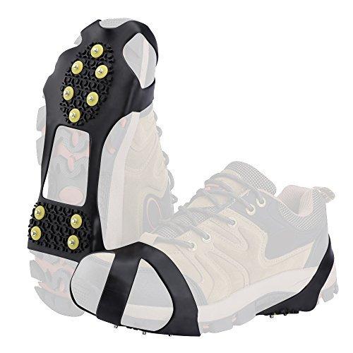 SOUMIT Schuhkrallen | Outdoor Steigeisen mit Stollen Grödel Spikes für Bodenhaftung auf Eis und Schnee, Schneewandern und Klettern (M EU36-41, Länge: 19,5CM)
