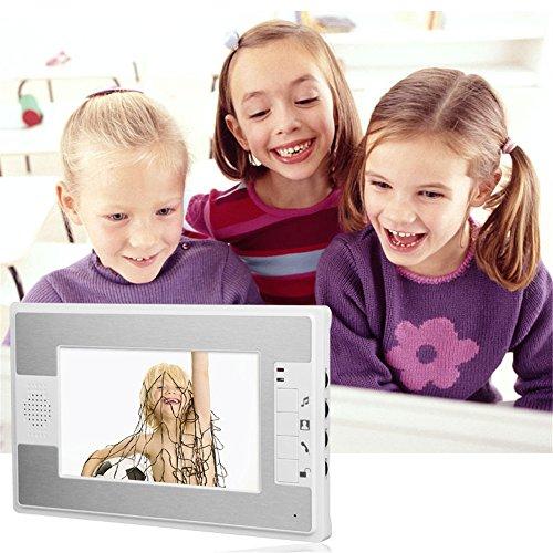 MOUNTAINONE 7 Inch Video Door Phone Doorbell Intercom Kit 2-camera 1-monitor Night Vision