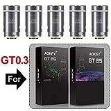 AOKEY GT 0,3 OHM Coils Cigarettes électronique, AOKEY GT65/ GT85 Résistance [5 pièces], sans Nicotine