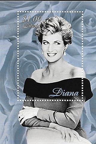 à collectionner timbres–Princess Diana–Princesse Pays De Galles MNH simple tampon Feuille/Libéria/