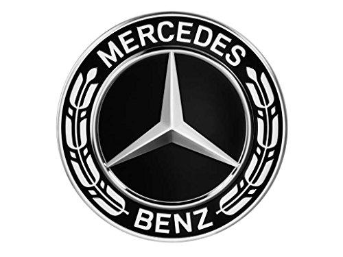Original Mercedes-Benz & AMG Radnabenabdeckung Durchmesser ca. 74-75mm schwarz/silber/Lorbeerkranz/AMG Radnabenabdeckungen Nabendeckel (Lorbeerkranz schwarz NEU)