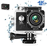 Action Camera 4K Wi-Fi 16MP Full HD 1080P Camma impermeabile con sensore SONY Impermeabile fino 30m