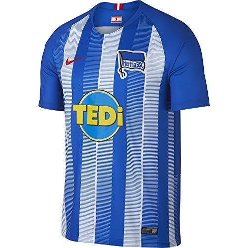 Nike Herren Hertha BSC Breathe Stadium Home T-Shirt Hyper Cobalt/White/Speed Red, L