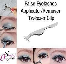 Pro belleza pestañas falsas extensión aplicador Remover Clip pinzas Nipper herramienta