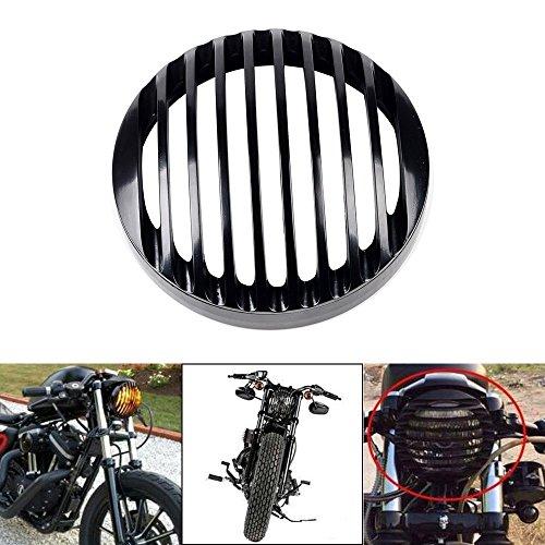 5 3/4 Aluminum Motociclo Griglia Faro Cover Motocicletta Lampada Copertura Griglia faro per Harley Sportster XL 883 1200