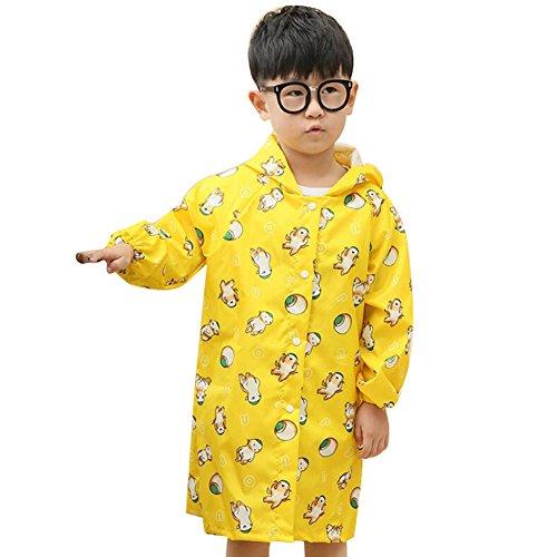Highdas Enfant Enfants imperméable poncho jaune animaux / 4-5Y