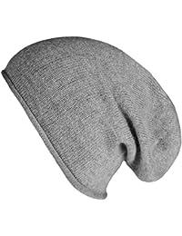 Mevina Damen Mütze Angora Anteil Beanie Strickmütze Feinstrick Wintermütze