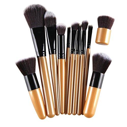 Kolylong Kit de Pinceau maquillage Professionnel 11 Pcs Brosse CosméTiques Pinceau De Maquillage Sets Kits Outils Brosse Visage Eyeshadow Brush