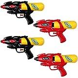 Schramm Onlinehandel Lot de 4pistolets à eau avec réservoir Rouge et noir 21cm