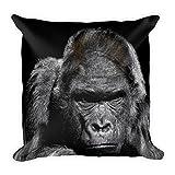 Best La hermana grande camisetas - Gorilla sobre negro, grande, flauschiges Cojín 45x 45cm Review