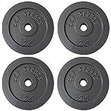 LCP Sports 8 Hantelscheiben Sets Freie Auswahl Gusseisen Gewichte 30/31 mm Bohrung