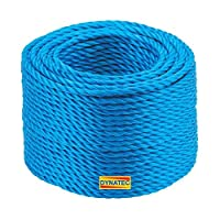 220 Metre X 6mm Blue Polypropylene Rope Load Securing Boat Fishing Camping 220m 16
